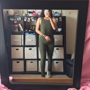 Charlotte Russe Olive green Sleeveless jumpsuit